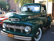 John Telfer Photography Photos - 1952  Ford Pick up Truck Front and Side View by John Telfer