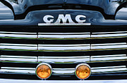 Old Photos Framed Prints - 1952 GMC Suburban Grille Emblem Framed Print by Jill Reger