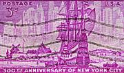 1953 300th Anniversary Of New York City Stamp Print by Bill Owen