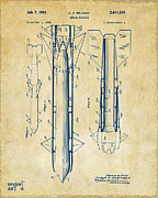 1953 Aerial Missile Patent Vintage Print by Nikki Marie Smith