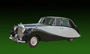 Silver And Black Framed Prints - 1953 Black Silver Bentley Empress Framed Print by Jack Pumphrey