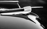 Singles Framed Prints - 1953 Capri Hood Ornament Framed Print by Steven Milner