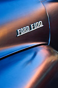 Classic Pickup Metal Prints - 1953 Ford F100 Pickup Truck Emblem Metal Print by Jill Reger