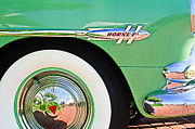 1953 Framed Prints - 1953 Hudson Hornet Sedan Wheel Emblem Framed Print by Jill Reger