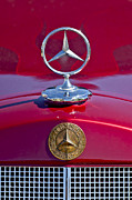 Historic Vehicle Photo Prints - 1953 Mercedes Benz Hood Ornament Print by Jill Reger