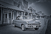 Automobiles Metal Prints - 1953 Mercury Monterey BW 1 Metal Print by David Morefield