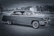 Mancave Prints - 1953 Mercury Monterey BW 2 Print by David Morefield