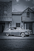 Oldies Posters - 1953 Mercury Monterey BW 5 Poster by David Morefield