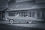 League Prints - 1953 Mercury Monterey BW auf Deutsch Print by David Morefield