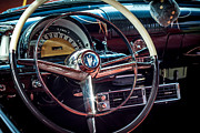 Automobiles Framed Prints - 1953 Mercury Monterey Dashboard Framed Print by David Morefield