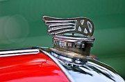 Hood Ornaments Posters - 1953 Morgan plus 4 Le Mans TT Special Hood Ornament Poster by Jill Reger