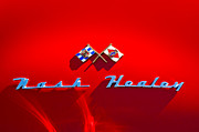 Historic Vehicle Photo Prints - 1953 Nash-Healey Roadster Emblem Print by Jill Reger