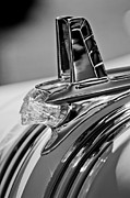 Black And White Photos Prints - 1953 Pontiac Hood Ornament 4 Print by Jill Reger