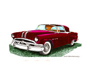 New At Painting Posters - 1953 Pontiac Parisienne Concept Poster by Jack Pumphrey