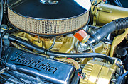 Champion Photo Prints - 1953 Studebaker Champion Starliner Engine Print by Jill Reger