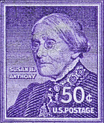 Susan B. Anthony Framed Prints - 1954-1961 Susan B. Anthony Stamp Framed Print by Bill Owen