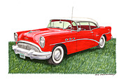 Buick Paintings - 1954 Buick Special by Jack Pumphrey