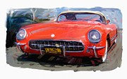 Rg Mcmahon Framed Prints - 1954 Chevrolet Corvette Framed Print by RG McMahon