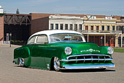 Chevy Coupe Prints - 1954 Chevrolet Custom Coupe Print by Dave Koontz