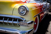 Red Street Rod Photos - 1954 Chevy Bel Air by David Patterson