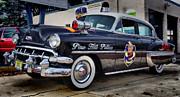 1954 Chevy Dare Police Car  Pine Hill  Nj Print by Thomas  MacPherson Jr