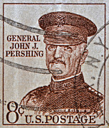 John Pershing Framed Prints - 1954 General John J. Pershing Stamp Framed Print by Bill Owen