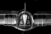 Wheel Framed Prints Posters - 1954 Hudson Hornet Emblem in Black Poster by Brooke Roby