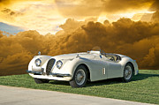 Transmission Framed Prints - 1954 Jaguar XK120 Roadster Framed Print by Dave Koontz