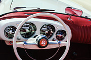 Roadster Photos - 1954 Kaiser-Darrin Roadster Steering Wheel by Jill Reger