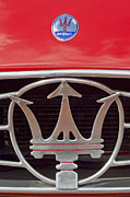Car Photographer Photos - 1954 Maserati A6 GCS Emblem by Jill Reger
