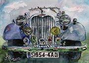 Singer Painting Originals - 1954 Singer Car 4 ADT Roadster by Anna Ruzsan