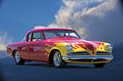 Lowered Posters - 1954 Studebaker Custom Poster by Dave Koontz