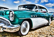 Ron Roberts Photography Greeting Cards Posters - 1955 Buick Poster by Ron Roberts