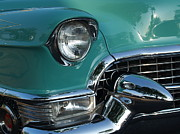 Caddy Prints - 1955 Cadillac Coupe de Ville Closeup Print by Anna Lisa Yoder