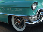 Caddy Prints - 1955 Cadillac Coupe de Ville Fender Print by Anna Lisa Yoder