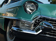 Fifties Automobile Prints - 1955 Cadillac Coupe de Ville in Motion Print by Anna Lisa Yoder