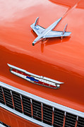 Old Photos Framed Prints - 1955 Chevrolet 210 Resto Mod Hood Ornament - Emblem Framed Print by Jill Reger