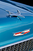 Classic Car Photography Art - 1955 Chevrolet BelAir Hood Ornament 7 by Jill Reger