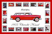 Bel Air Prints - 1955 Chevrolet Belair Nomad Art Print by Jill Reger