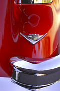 Car Part Metal Prints - 1955 Chevrolet Belair Nomad Emblem Metal Print by Jill Reger