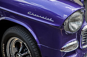 Purple Hot Rod Posters - 1955 Chevrolet Purple Monster Poster by Rich Franco