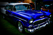 Custom Grill Prints - 1955 Chevy Bel Air Print by David Patterson