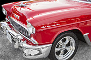 Big Block Framed Prints - 1955 Chevy Cherry Red Framed Print by Rich Franco