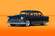 Chevy Coupe Prints - 1955 Chevy III Print by Dave Koontz
