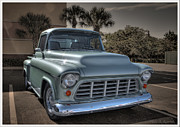 Chevy Pickup Prints - 1955 Chevy Pickup Print by David Kawchak