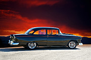 Chevy Coupe Prints - 1955 Chevy V Print by Dave Koontz