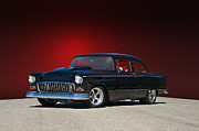 Chevy Coupe Prints - 1955 Chevy VII Print by Dave Koontz