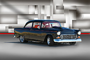 Chevy Coupe Prints - 1955 Chevy VIII Print by Dave Koontz