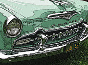 Sheats Framed Prints - 1955 DeSoto Grille Framed Print by Samuel Sheats