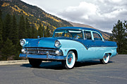 Family Car Prints - 1955 Ford Fairlane Print by Dave Koontz
